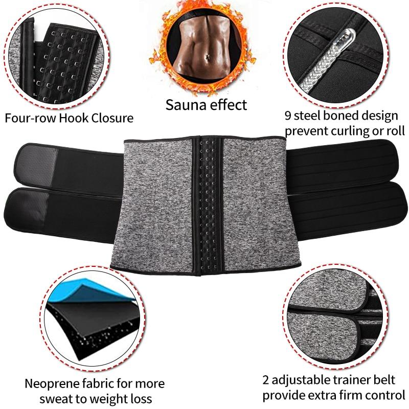 Купить неопреновый корсет для массажа талии в сауне пояс пота женщин