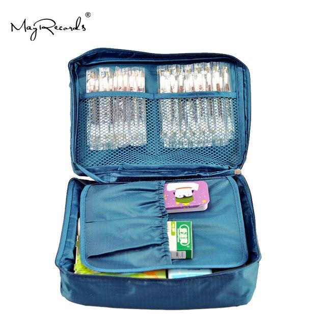 Violaceo blu Kit di Casa il Sacchetto di Corsa Esterna di Primo Soccorso Piccola Trattamento Medico della Scatola di kit Di Sopravvivenza Di Emergenza di Campeggio Esterna