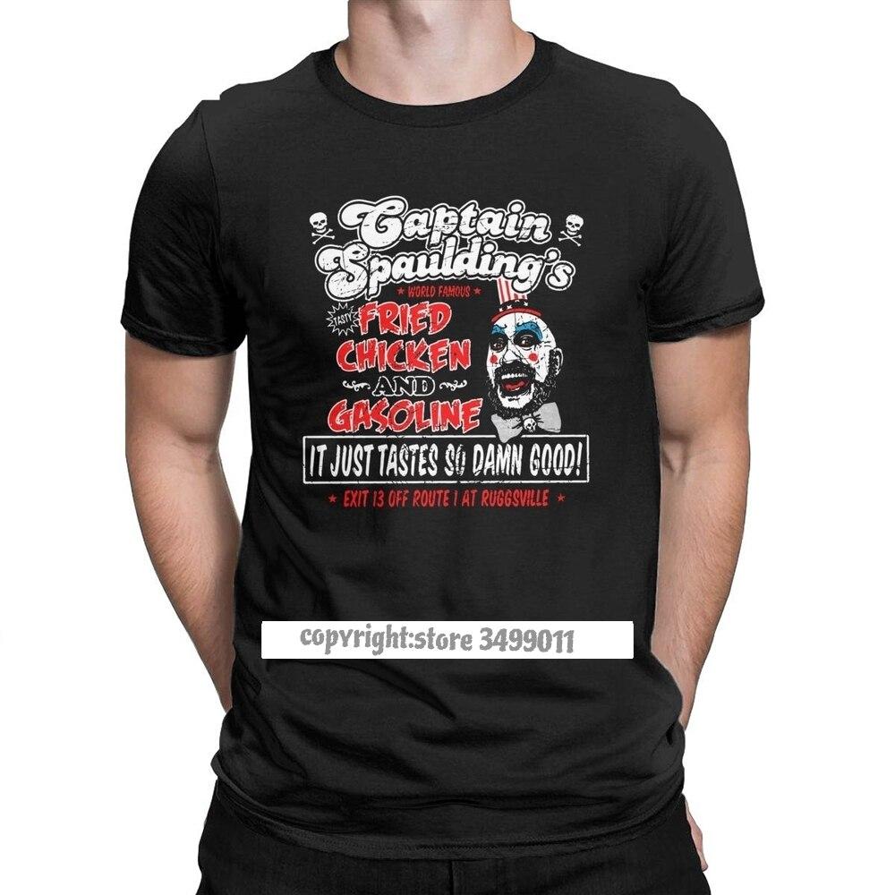 Männer der Kapitän Spaulding Gebraten Huhn T-shirt Devils Ausschuss T Shirt Haus Von 1000 Leichen T Hemd Horror Halloween Geschenk tops