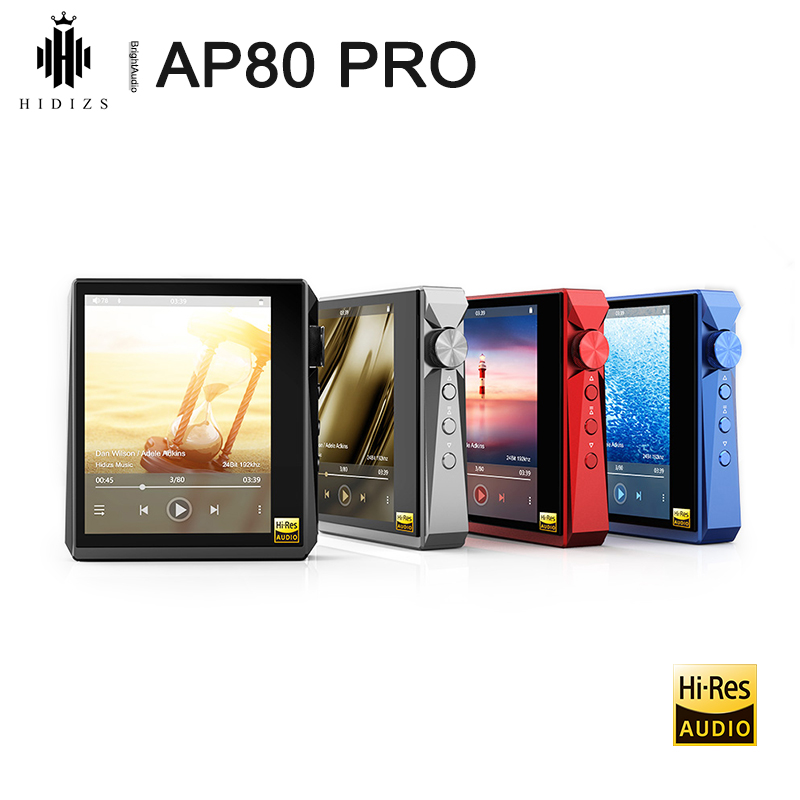 Hidizs AP80 PRO Dual ESS9218P Bluetooth Portable Music Player MP3 USB DAC Hi-Res Audio DSD64/128 Apt-X/LDAC FM Step Counter