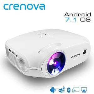 Image 1 - CRENOVA najnowszy projektor LED do Full HD 4K * 2K rzutnik Android 7.1.2 OS kino domowe film Beamer Proyector