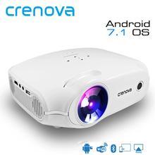 Crenova projetor led para full hd 4k * 2k, projetor para android 7.1.2 os, projetor de cinema em casa projetor de beamer