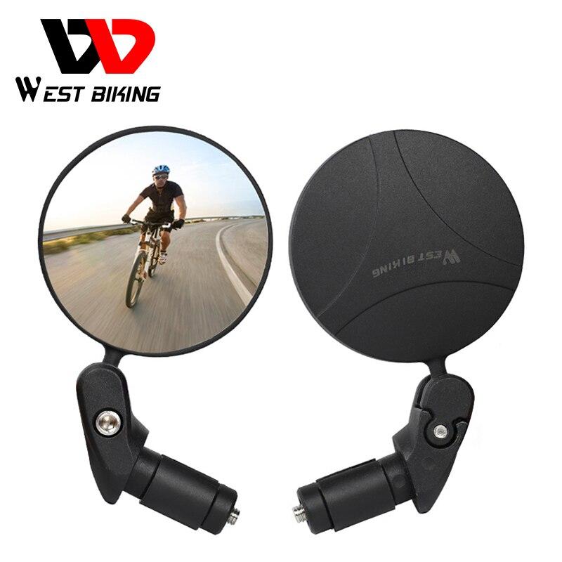 WEST RADFAHREN Bike Rückspiegel 360 Rotation Einstellbar Weitwinkel Radfahren Rückansicht MTB Rennrad Fahrrad Lenker Spiegel