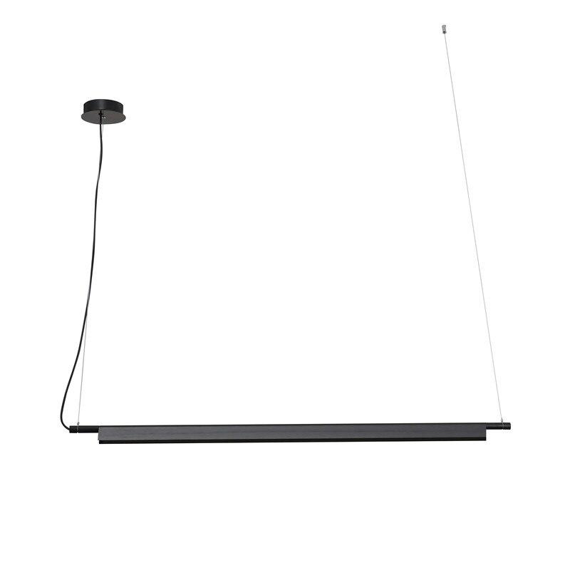Linear LED anhänger lampe licht designer suspension hängen schnur licht gold/schwarz bar büro esstisch LED hängen lampe licht