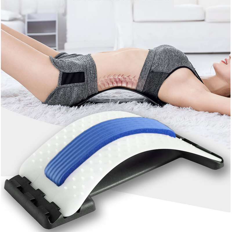 Back Stretch Equipment Massager Magic Stretcher Fitness Lumbar Support Relaxation Spine Pain Relief