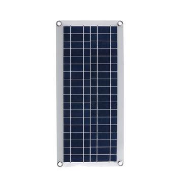 50W Solar Panel 12V 5V USB Portable Solar Panel Cells+ 10/20/30/40A Controller for Car Yacht RV Charging Outdoor Emergency Light 5