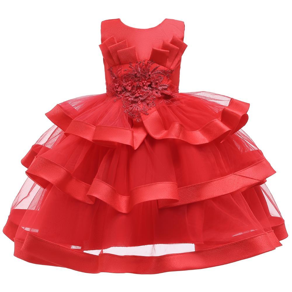 Girls Dress Elegant New Year Princess Children Party Dress Wedding Gown Kids Dresses for Girls Birthday Party Dress Vestido Wear 20