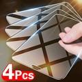 4 шт. закаленное стекло для iPhone 12 11 Pro Max Защита экрана для iPhone X XS XR 11 12 Pro Max 12 мини защитное стекло