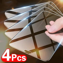 4 pçs vidro temperado no para o iphone 12 11 pro max protetor de tela para o iphone x xs xr 11 12 pro max 12 mini vidro protetor de proteção