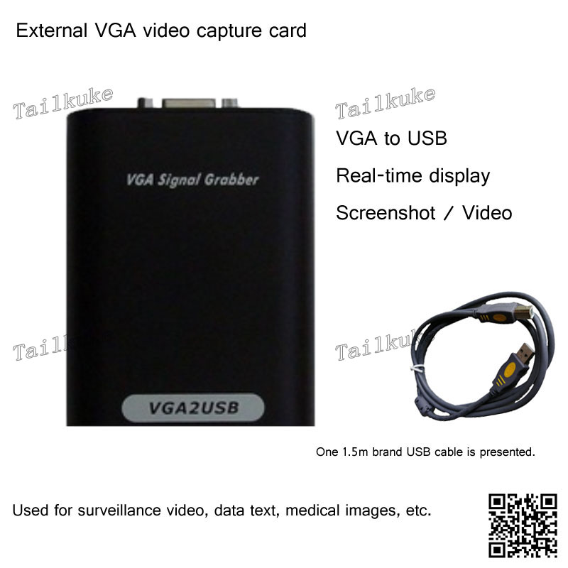 VGA2USB External VGA Video Capture Card Computer Monitor USB Data Capture Card Notebook Video Audio