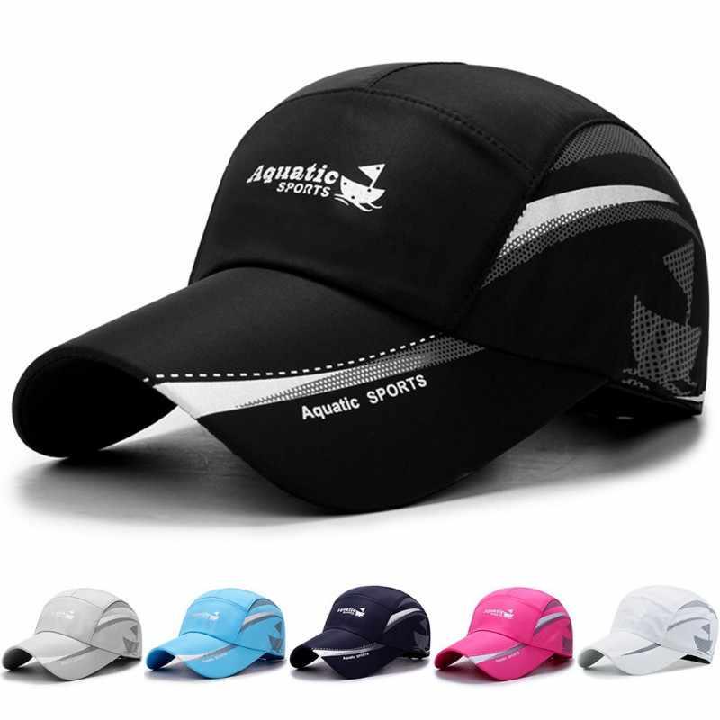 Men Women Outdoor Sport Baseball Mesh Hat Running Visor Quick-drying Flat Cap