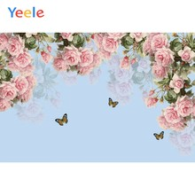 Yeele Butterfly Flowers Bokeh Baby Shower Portrait Spring Photophone Photography Backgrounds Photo Backdrops For Photo Studio(China)