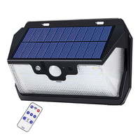 55 LED 900lm Solar Light remote control radar smart 3 side lighting Panel Lamp Garden L cam street wall lamp yard camp g