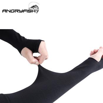 Tkanina lodowa rękawy naramienne letnie sportowe ochrona przed promieniowaniem UV bieganie jazda na rowerze wędkarstwo jazda odblaskowe krem do opalania opaski tanie i dobre opinie Angryfish A8014 Polyester 34cm