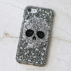 Image 5 - Kühle Metall 3D Schädel Skelett Punk Bling Fällen für Samsung galaxy S9 S10 S20 Plus S10e Hinweis 10 Lite 10 + 20 Ultra 9 Kristall Fundas