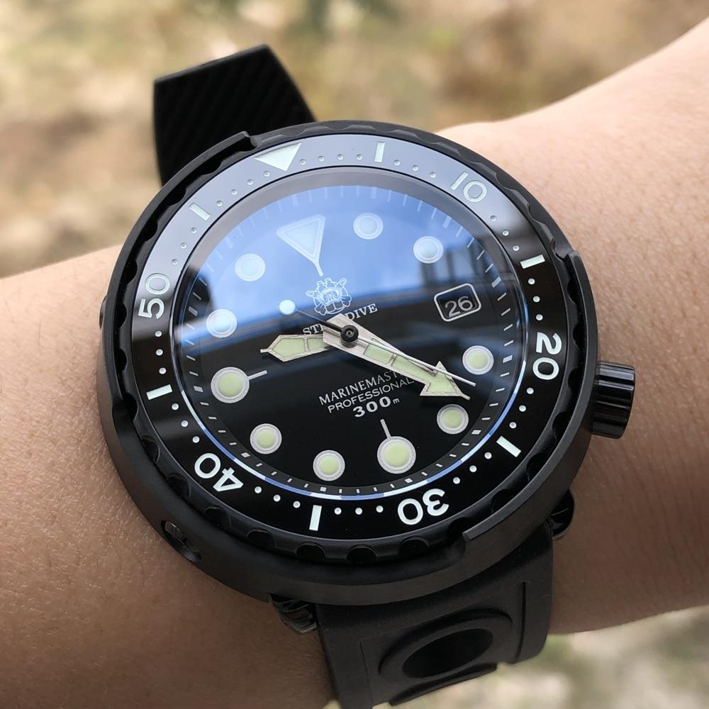 STEELDIVE Black Dive Watch 300m Waterproof  Diving Watch Ceramic Bezel NH35 Automatic Watches Men 2020Luxury Watch