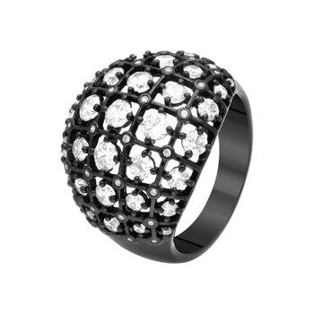 Кольцо из серебра с фианитами R00526