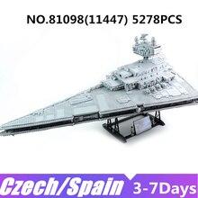 Lepinblock Star Ship 81098 05028 05063 impérial Super Wars Destroyer blocs de construction 81030 81029 briques guerres anniversaires jouets