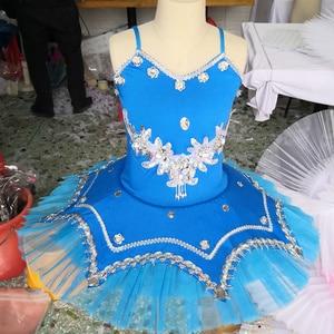 Image 5 - Professional Ballet Tutu Pancake Children White Swan Lake Ballet Costume KidsGirls Feather Ballerine Tutu Skirts