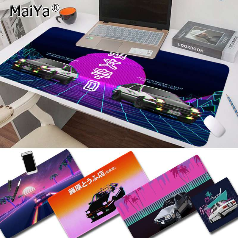 Maiya New INITIAL D Super car AE86 Keyboards Mat Rubber Gaming mousepad Desk Mat Free Shipping Large Mouse Pad Keyboards Mat image