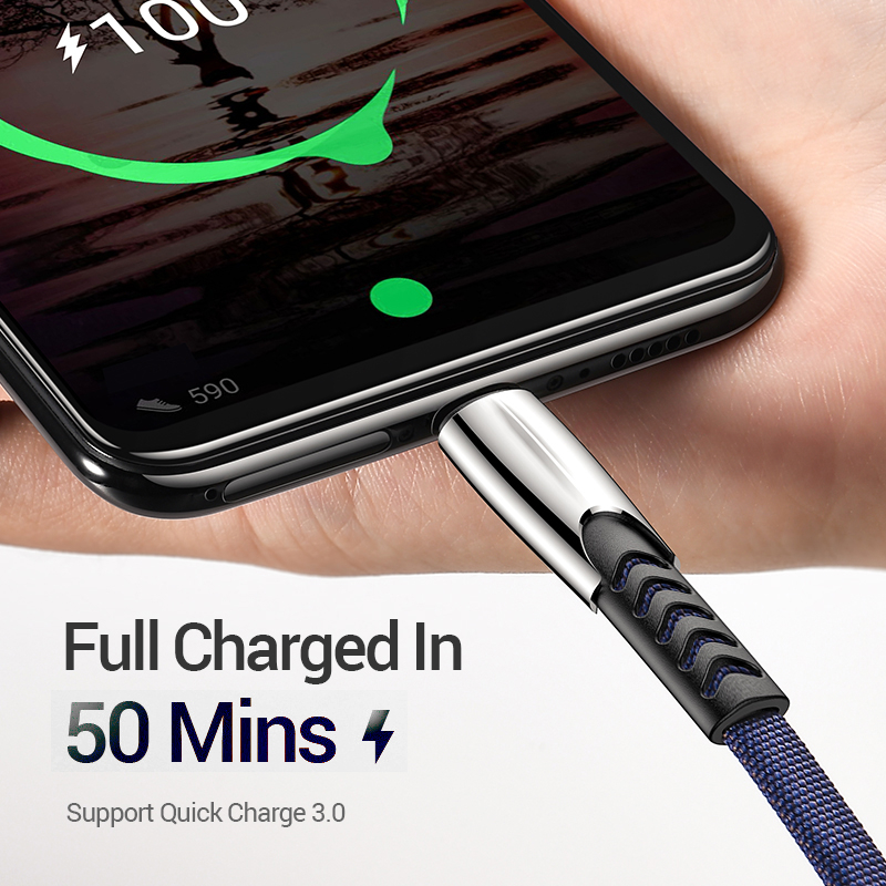 BRHMC Micro USB Cable 3A Nylon Fast Charge USB Data Cable for Samsung Xiaomi LG Tablet Android Mobile Phone USB Charging Cord 5