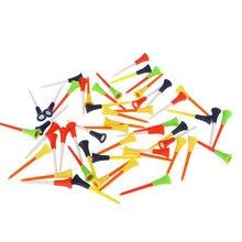 30 шт. разноцветные пластиковые футболки для гольфа 83 мм Прочная резиновая подушка топ пластиковая футболка для гольфа Высокое качество #40