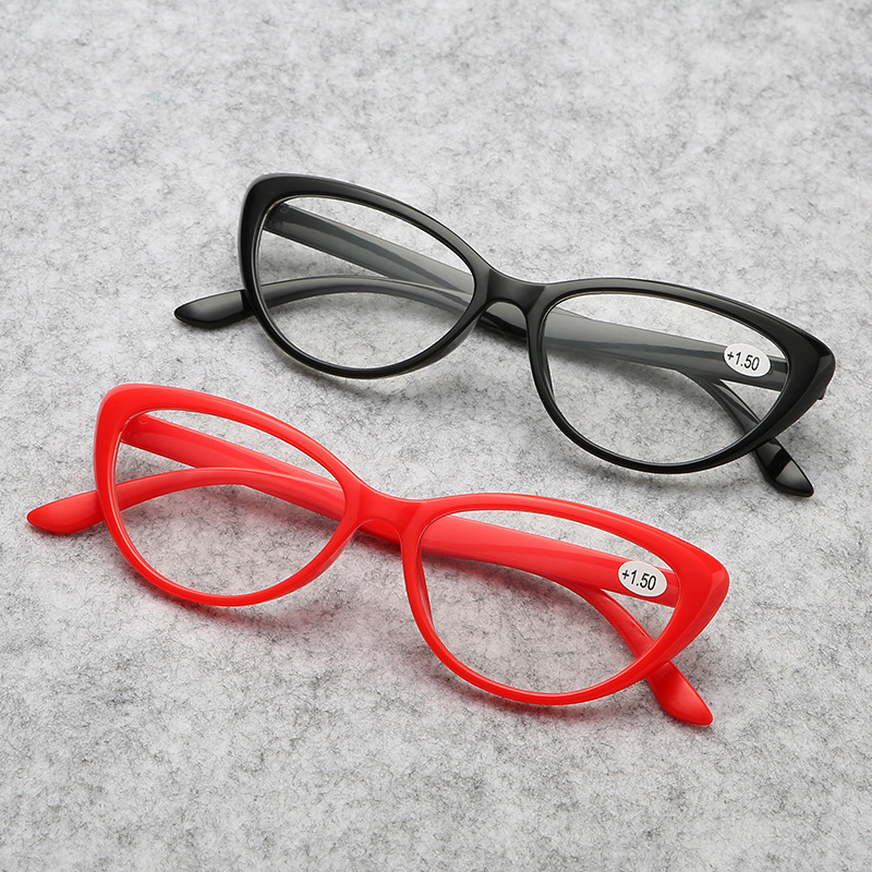 2020 Fashion Cat Eye Reading Glasses Plastic Women Presbyopic Eyewear Men Far Sight Glasses Ultra Light  +1.0 2.0 3.0 4.0