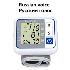 Image 2 - Russian Voice Tonometer Wrist Blood Pressure Monitor Automatic Wrist Digital Meter for Measuring And Pulse Rate Sphygmomanometer