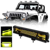 Yellow 15.5 252W 84 LED Work Light Bar Fog Spot Off Road Car Truck Pickup Van Wagon UTV Cab ATV SUV For Jeep Truck Bus 4WD 4X4