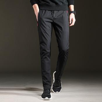 Męskie spodnie joggery męskie spodnie streetwear spodnie męskie spodnie bojówki męskie męskie spodnie dresowe bawełniane pełnej długości tanie i dobre opinie Proste CN (pochodzenie) Mieszkanie Mikrofibra Modalne CASHMERE COTTON NONE REGULAR K-AD12 Na co dzień Midweight Suknem