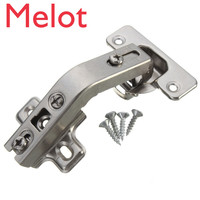 200pcs 135 Degree Concealed Hinges Corner Folded Cabinet Cupboard Furniture Hinges with Screws Hardware Tool