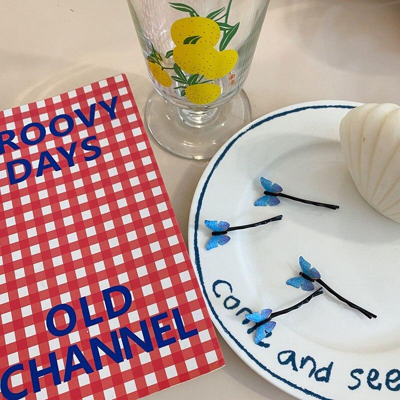 Распродажа 4 шт/компл мечтательная синяя бабочка шпилька аксессуары