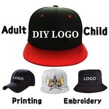 DIY Logo Baseball Cap Custom-made Bucket Hat High-quality Child&Adult Printing Embroidery Famous Brand Sport Men Women Snapback