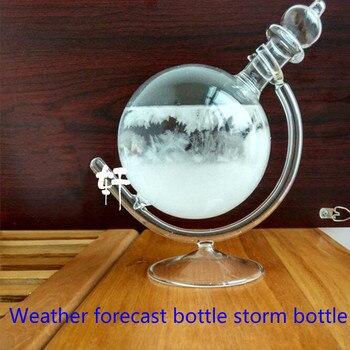 Creative glass decoration globe shape rotation weather forecast bottle storm bottle forecast bottle   vase decoration home
