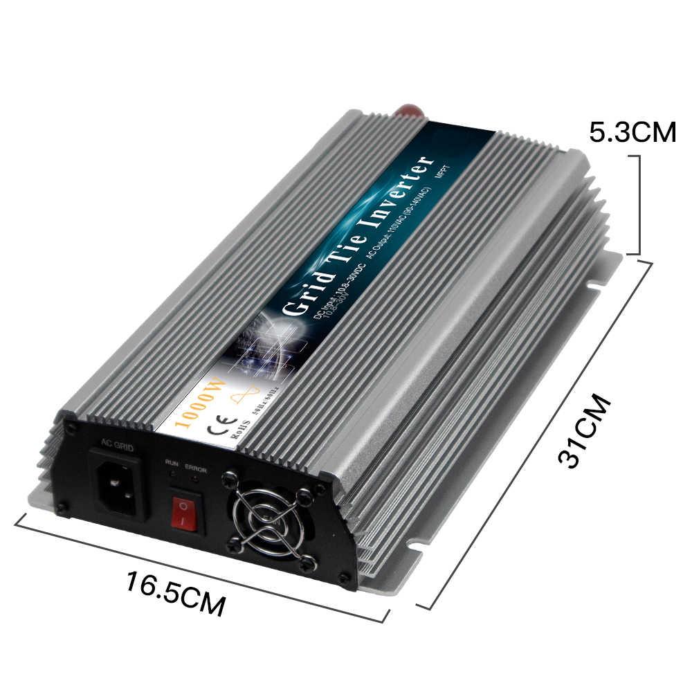1000W ızgara kravat güneş invertör 18/36V DC AC 110/220V mikro invertör saf sinüs dalga invertör 1000-1200W 36/60/72 hücre
