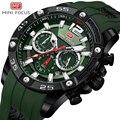 Мини фокус Топ люксовый бренд Мужские часы Бизнес Кварцевые Chronograp часы мужские спортивные наручные часы Военные Amry Relogio Masculino
