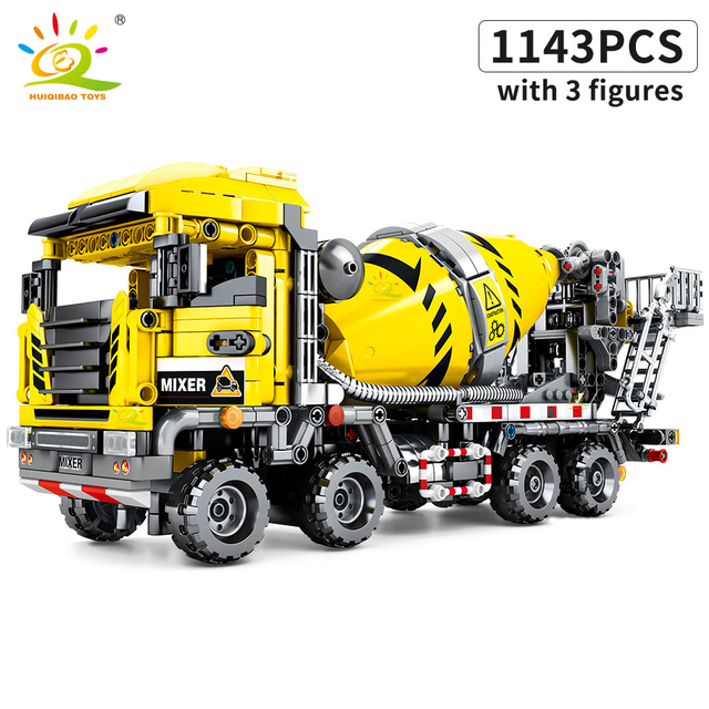 "Конструктор HUIQIBAO ""Автомобиль-бетономешалка"", 1143 шт."