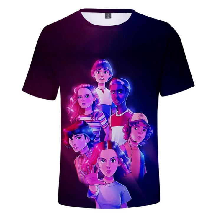 Dropship 3D T-Shirt Men/Women/kid Stranger Things 3 T shirt 3d Tee Shirt Thing tshirt Eleven Top