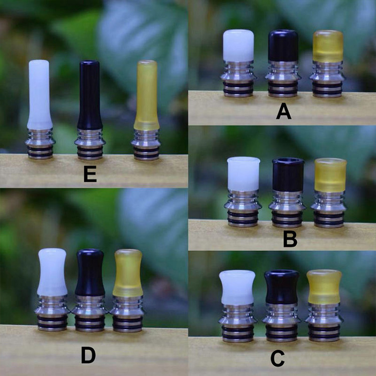 Timovape Ks V2 Style MTL 510 Drip Tip Set PEI Ultem Heat Resistance Vape Tips With Airflow Control For RDA RTA Vape Accessories