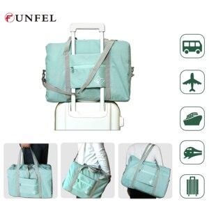 FUNFEL нейлоновая складная дорожная сумка органайзер для путешествий Сумки для выходных багажа женские водонепроницаемые сумки мужские доро...
