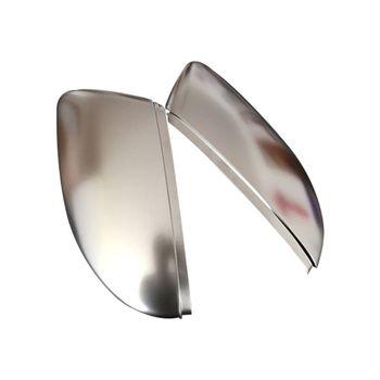 1 زوج ABS ماتي الكروم مرآة الرؤية الخلفية غطاء كاب ل VolksW باسات B7 CC شيروكو خنفساء
