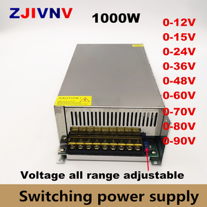 0-12V 15V 24V 36V 48V 55V 60V 72V 80V 90V 110v 150v 220v Adjustable Switching Power Supply Led Power Supply 1000W Ac To Dc Smps(China)