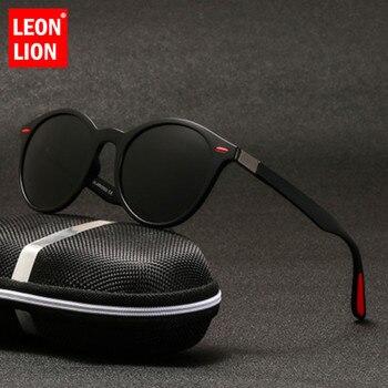 LeonLion 2019 Retro Sunglasses Men Polarized Luxury Brand Men/Women Mirror Square Gafas De Sol Hombre