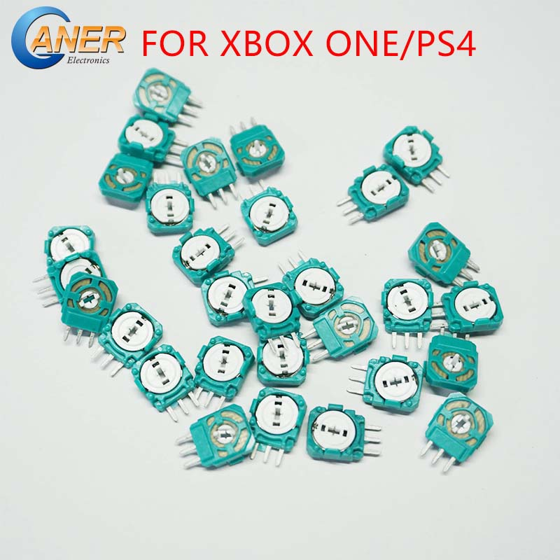 50Pcs Replacement Analog 3D Joystick Micro Mini Switch Axis Resistors For Playstation 4 PS4 Controller Gasket For XBOX ONE