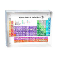 Periodic Table Display Kids Teaching School Day Teacher's Day Birthday Gifts Periodic Table Display With Real Elements Acrylic