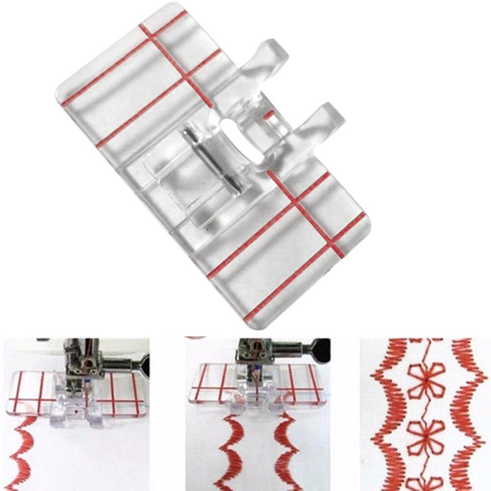 Прижимная лапка параллельного стежка из прозрачного пластика, прижимная лапка для домашней швейной машины 4,5x2,3 см, украшение для дома, дива...