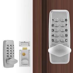 Zamek mechaniczny zestaw wodoodporny Mini kod mechaniczny zamki zewnętrzne bezpieczeństwo drzwi zamek szyfrowy darmowa wysyłka