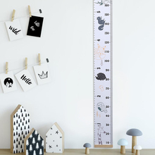 2M Childrens Height Ruler Wall Sticker Hanging Wood  Canvas Cartoon Decoration Baby Chart Decals DIY