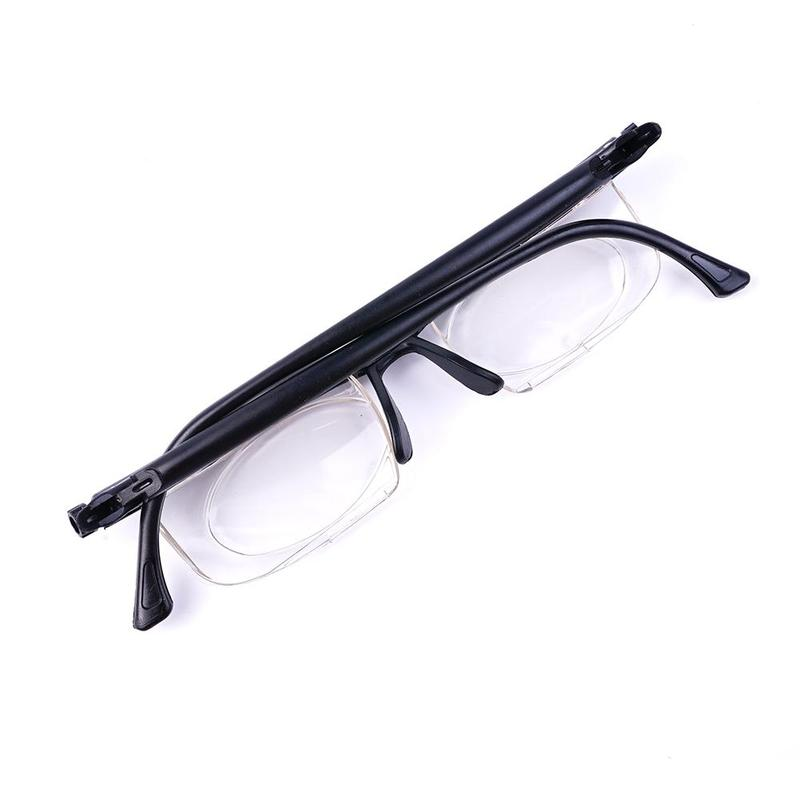 Dial Adjustable Glasses, Zoom, Visual Distance, Reading Driving Office Lens