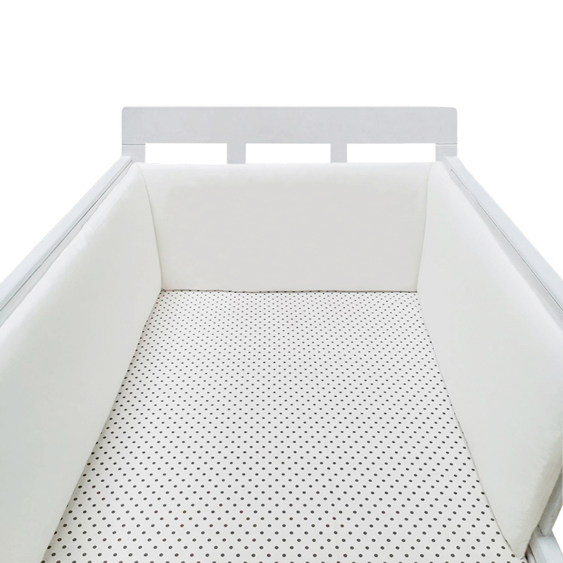 ™Clearance SaleCrib Bumper Protector Baby Bed Fence-Line Detachable Bebe-Cot Infant Safe White Zipper